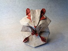 Modelo de Katsuta Kyohei (mrmicawer) Tags: papiroflexia origami papel hamster roedor rodent pet