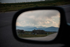 090903.163 Leaving the mountains behind... (tulak56) Tags: 2009 colorado mountains road mirror reflection