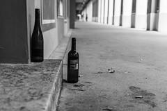 Wine (Jontsu) Tags: bottle wine munich munchen germany deutschland nikon d7200 35mm street streetphotography black white bw