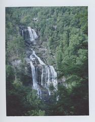 (ChazboTheThird) Tags: shot polaroid land 250 with fuji fp100c film fp 100c c instant peel apart waterfall waterfalls water fall falls north carolina nc whitewater white