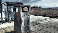 Seaside Litter Bin. (ManOfYorkshire) Tags: litter bin rubbish metal rust rusted patina seaside seafront beach sea air salt salted corrosion disposal brighton sussex eastsussex england gb uk pier