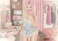 Addicted to Kawaii (Gabriella Marshdevil ~ Trying to catch up!) Tags: sl secondlife cute kawaii unicorn taketomi candykitten girlpower sexy pinkfuel pastel