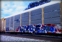 (timetomakethepasta) Tags: wyse d30 deja nekst freight train graffiti art ns autorack norfolk southern dirty30