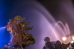 Monument aux Girondins (fabrice.balthazar) Tags: animal cheval statue fontaine bordeaux ciel nuit poselongue bordeauxcub