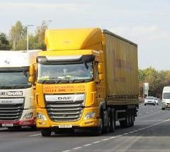 Jack Richards DG18 YFC on the A5 at Shrewsbury (Joshhowells27) Tags: lorry daf xf dafxf curtainsider jackrichards dg18yfc monty