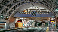 Seattle, WA: Pioneer Square Station Seattle Link light rail in the Downtown Transit Tunnel (nabobswims) Tags: downtowntransittunnel hdr highdynamicrange ilce6000 lightrail lightroom mirrorless nabob nabobswims photomatix pioneersquare sel18105g seattle seattlelink sonya6000 station us unitedstates wa washington
