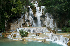 Magical Kuang Si Falls (Jeremy Austin (austinjosa)) Tags: kuangsifalls waterfall jungle luangprabang laos nature southeastasia happyplanet