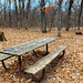 Picnic table at Wild River State Park, Minnesota