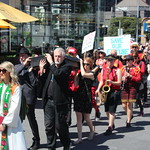 Rev Sangster and Marching band processional - Funeral for our future - Melbourne - IMG_3578 thumbnail