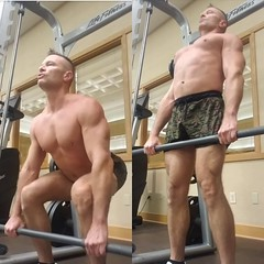 deadlift (ddman_70) Tags: shirtless pecs abs muscle gym workout shortshorts