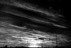 les girafes (asketoner) Tags: city lights urban sky cluds sunset lamps sun darkness reykjavik iceland long large black lines girafes