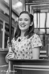 'ELLIE' (tonyfletcher) Tags: crichtramwayvillage crichtramwayvillage1940s crichhomefrontevent crich 1940s 40s tonyfletcher wwwtonyfletcherphotographycouk wwwwhitbygothscenecouk 1940sevent portraits homefront ww2