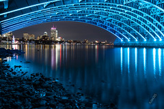 Aloha365 - Day 247 - December 20, 2018 - Longfellow Bridge Under (alohadave) Tags: 365project aloha365 autumn boston bridge charlesriver clearsky effects fall flowing infrastructure longfellowbridge massachusetts night northamerica pentaxk3 places river saltpepperbridge season sigma1750mmf28exdchsm sky suffolkcounty unitedstates water