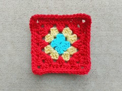 The missing crochet remnant after being both found and rehabbed (crochetbug13) Tags: crochet crocheted crocheting crochetremnants crochetsquares grannysquares crochetblanket crochetafghan