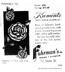 1955 Furhrman's jewelry ad for Krementz 52 state (albany group archive) Tags: 1950s old albany ny photo photos photograph pciture pictures historic hidtorical history vintage