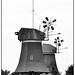 Greetsiel, Germany, two windmills