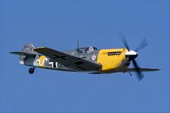 Hispano HA-1112-M1L Buchon - 13 (NickJ 1972) Tags: cosby victory show airshow 2018 aviation hispano messerschmitt bf109 me109 ha1112 buchon gawhh white 9