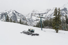 Prepping for Skiers at Sundance (aaronrhawkins) Tags: sundance ski resort groom grooming hill run skier tractor slope provo canyon utah lift tower mountain timpanogos season snow winter sport aaronhawkins cold