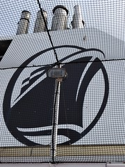 Caribbean Sea, Day 7 -- Caribbean Cruise Vacation, Holland America Logo on Smokestack at Basketball Court (Mary Warren 12.0+ Million Views) Tags: caribbean cruise hollandamerica veendam smokestack logo