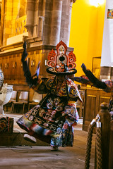 IMG_1584 (foretfantome) Tags: tibetan dance costume strasbourg tibet danse noir et blanc foret fantome guillermo gomez 5d mk 3 eglise church ethno bouddhisme