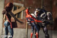 Marvel Legends Venom vs. Spidey (ToyTallica) Tags: marvel marvellegends marvelcomics venom spiderman toddmcfarlane maryjane toyphotography toys toytallica toycollecting toy carnage