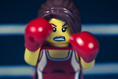 Fight Like A Girl (3rd-Rate Photography) Tags: boxer boxing lego minifig minifigure femaleboxer female woman girl femaleboxing toy toyphotography canon 100mm macro fighter jacksonville florida 3rdratephotography earlware 365