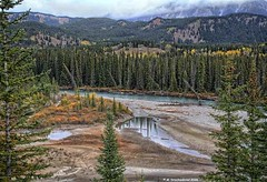 View of the Bow River along Alberta Highway 1 near Castle Junction (PhotosToArtByMike) Tags: castlejunction bowriver banff banffnationalpark albertahighway1 canadianrockies albertacanada mountain mountains