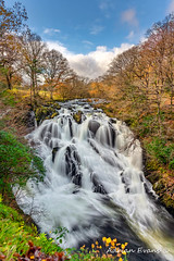 Swallow Falls Snowdonia (Adrian Evans Photography) Tags: riverllugwy autumn snowdonia landscape landmark autumnwaterfall outdoor welshlandscape fall welshlandmark clouds northwales leaves wales water rapids waterfall river forest afonllugwy uk sky waterscape swallowfalls betwsycoed longexposure adrianevans nikon d850 20mm treesdiestandingup