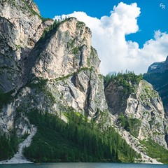 The scratch clouds (Andrea Rizzi Esk) Tags: gametzalpenkopf alps mountains lake braies sky cloud green water italy nature square 11 landscape soft tones