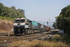 12001 Kulem/Goa,India (Gridboy56) Tags: bellary vascodagama kulem india locomotive locomotives trains train railways railroad railfreight gm 12001 12098
