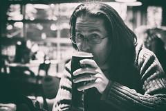Thirsty Thursday (flashfix) Tags: november222018 2018inphotos flashfix flashfixphotography ottawa ontario canada nikond7100 40mm portrait male beer man monochrome nardrait bokeh restuarant glasses ring window blackandwhite