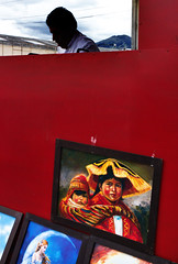 *** (klauslang99) Tags: streetphotography klauslang person painting wall cuenca ecuador contrast