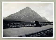 "Buachaille Etive Mòr (Vintage Cars & People) Tags: vintage classic black white ""blackwhite"" sw photo foto photography automobile car cars motor vehicle antique auto road countryside mountainside landscape landmark thebuachaille buachailleetivemòr stobdearg a82 highlands scotland"