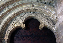 Anglo-Norman decoration, Monk's door, Ely Cathedral