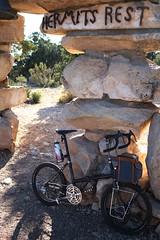 Don't mind if I do! (Shu-Sin) Tags: bicycle travel touring rock red velo bici randonneur randonneuse raleigh twenty folding bike 20in mod modification shusin arizona sedona desert hermits rest grand canyon