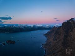 Southernmost tip of Vestvågøy (rungegraphy) Tags: drone norway norge vestvågøy lofoten travel sky mountains ocean sea coast sunset sunrise polarnight hiking