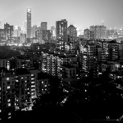 City Layer lighting 城市層次 (kevinho86) Tags: 35mm 天際線 都會 建築 eos6d canton canon nightscape longexposures lightshadow 内透 bw night pearlrivernewtown 珠江新城 城市 guangzhou monochrome citynights citylights downtown innerlights wideangle black white cloudy city cityscapes feelings 空 雲 landscape scenery scape art simple architecture 11 square squareformat highview