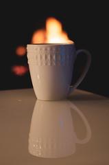 Week04-Warmth - Linda Carpentier (Frïsettes) Tags: chocolat chocolate feu fire warmth chaleur dogwood dogwoodweek4 dogwoodsemaine4 citation quote pensée