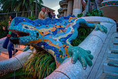 LIzard, Park Guell (Barry Carr) Tags: olympusomsystemzuikomcautos50mmf14 building gaudi buildings sony on1photoraw2019 sonya7 catalonia sonya7ii lenstagger spain barcelona parkguell on1 antoniogaudi architecture classiclenses classiclens a7 a7ii