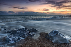 Wave flow (Through Bri`s Lens) Tags: sussex lancing worthing tide rocks shoreline beach sea brianspicer canon5dmk3 canon1635f4 lee09softgrad