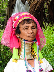 Long necked women Chang Mai Village (Maurizio Esitini) Tags: thailand chang mai long neck head woman kayan tribe portrait
