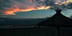 Fuego en el cielo (mavricich) Tags: pinamar playa paisaje atardecer atlántico argentina agua movil momento mar fuego cielo color colores costa sky