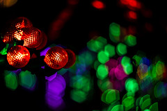 Octagons (noname_clark) Tags: night dark light christmas gardensonspringcreek bokeh octagon