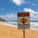 Warning Rip Currents Kauai Hawaii