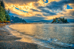 Sunset at Whytecliff Park (William Horton Photography) Tags: bowyerisland britishcolumbia canada horseshoebay horseshoebaypark howesound pacific vancouver westvancouver whytecliffpark afternoon bay clouds coast evening horizontal islet landscape ocean sea shore stormy sunset water ca