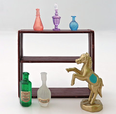 Antique Shop # 5 (MurderWithMirrors) Tags: rement miniature antique mwm bottle stand horse statue