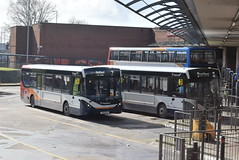 SW 27493 and 37488 @ Kilmarnock bus station (ianjpoole) Tags: stagecoach western alexander dennis enviro 200mmc yx19osa 37493 yw68oyg 37488 working route 7 maxwell court new farm loch leadhills road bellfield 3 hareshaw drive onthank sunnyside shortlees respectively