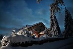 "Winter in the mountain ... Beskidy Poland (evko ...) Tags: beskidy istebna poland polen pologne montagne góry mountain neige śnieg snow winter zima lhiver noc lanuit night lanoche ""flickraward5"""
