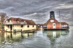 Langstone Harbour Mill (gibbsbrian) Tags: hampshire uk england langstoneharbour mill sea hdr canon canon5d reflection sky painting