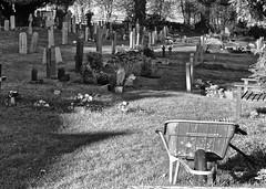 Wheelbarrow (alicejack2002) Tags: church graveyard bw monochrome hughenden leica